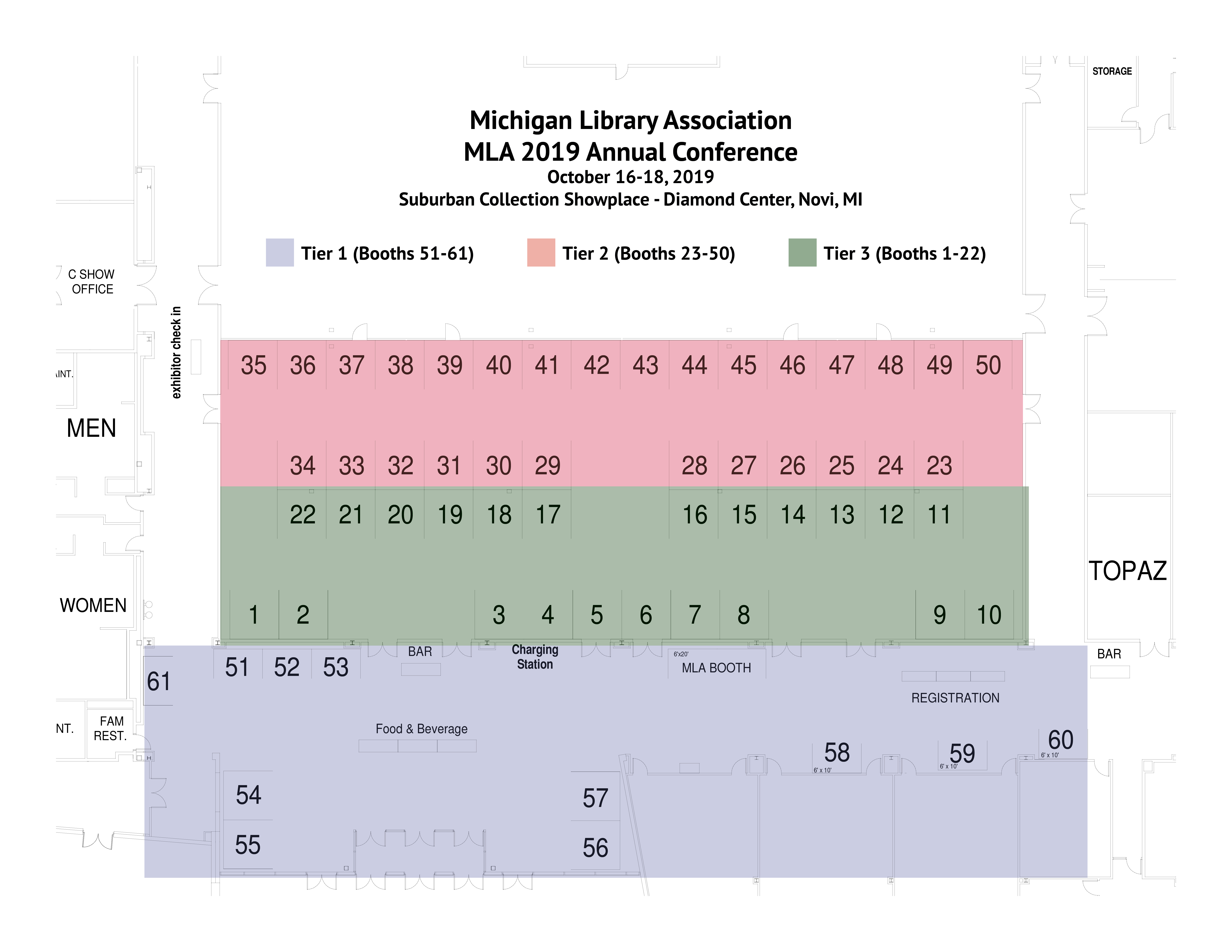 MLA 2019 Exhibitor Booth Diagram