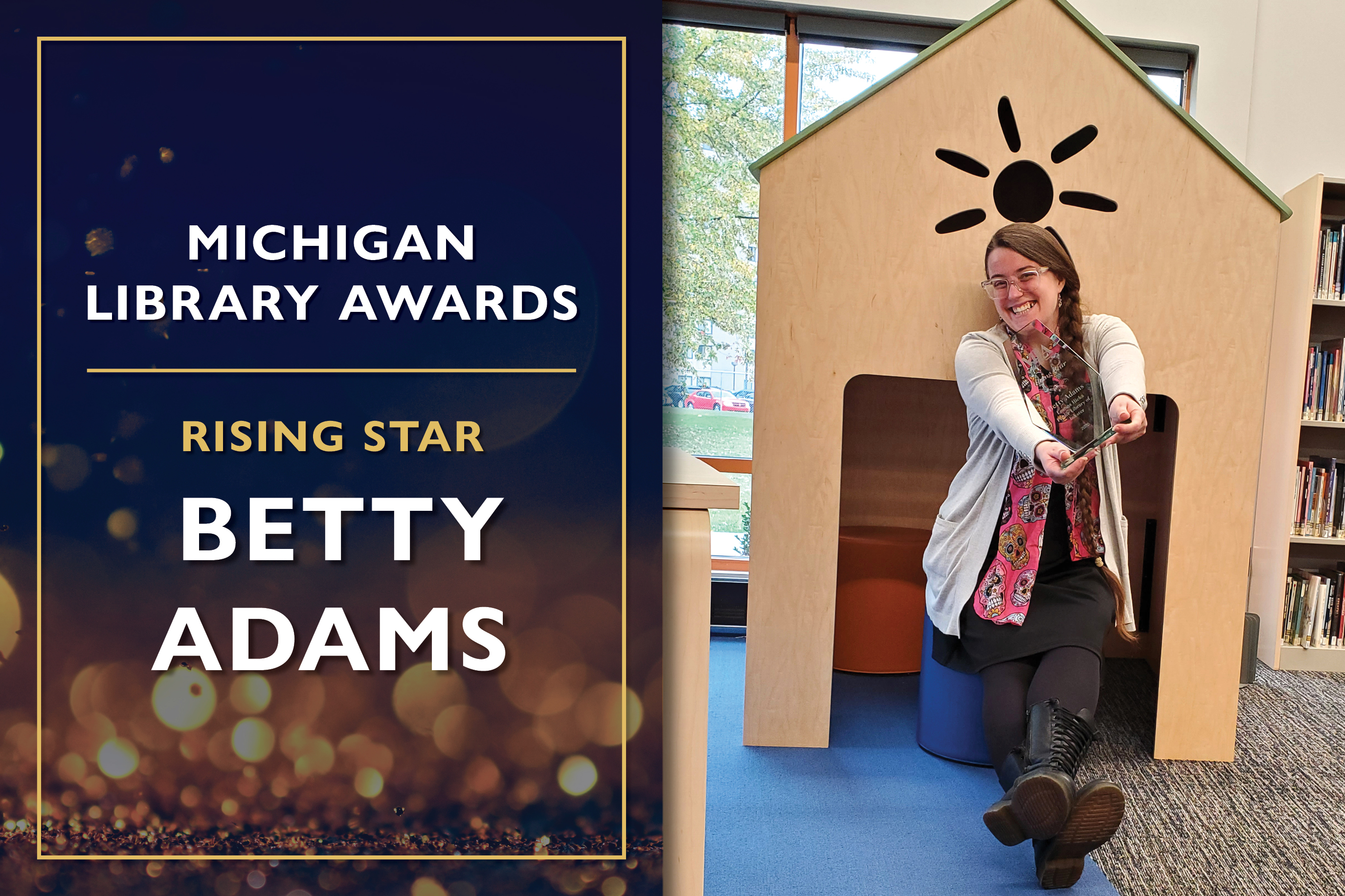 Rising Star  Betty Adams, Library Director at the Leanna Hicks Public Library of Inkster